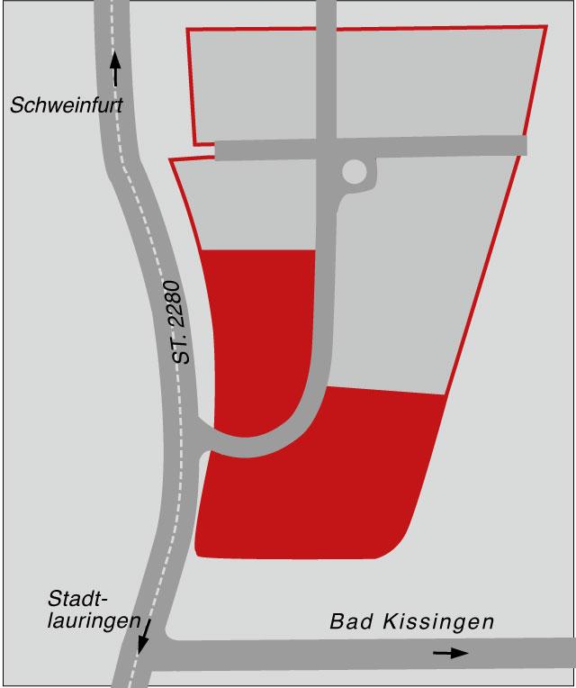 Karte Gewerbegebiet am Tonwerk